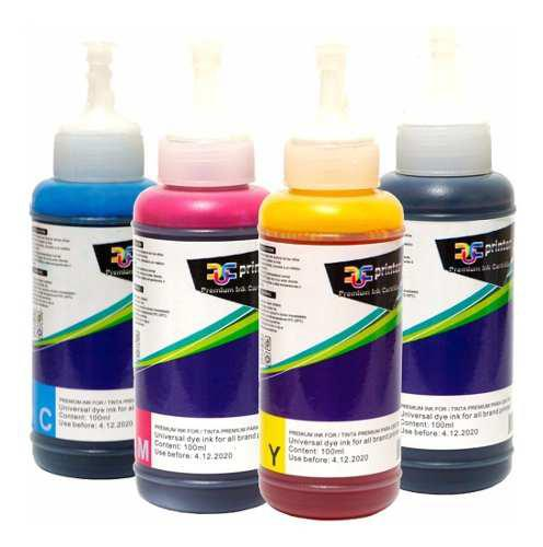 Pack 4 tinta marca dcu para impresoras epson base agua