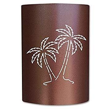 Slip on sconce pt-cc-007 palm tree copper canyon slip on sco