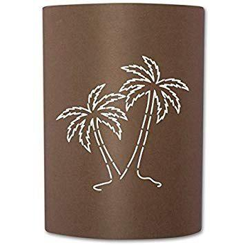 Slip on sconce pt-rt-008 palm tree rust sconce