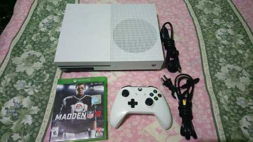Xbox one s 1tb completo con cables control y juego barato