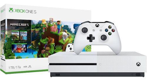 Xbox one s de 1 tera nuevo minecraft y sea of thieves