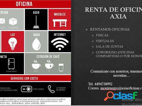 Renta de oficinas servicios incluidos