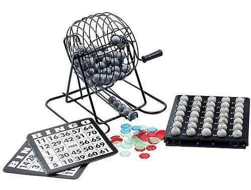 Bingo negro metal 6 pulgadas esferas fichas loteria casino