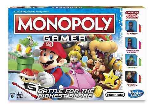 Monopoly gamer mario bros nintendo hasbro en ingles nuevo