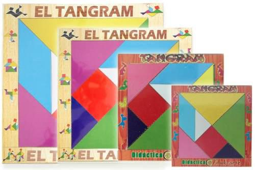 Paquete De 6 Juegos De Tangram De Madera 30 X 30 Cm.
