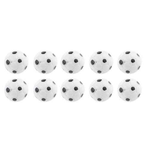 10pcs 1:12 casa de muñeca balones de fútbol miniatura deco