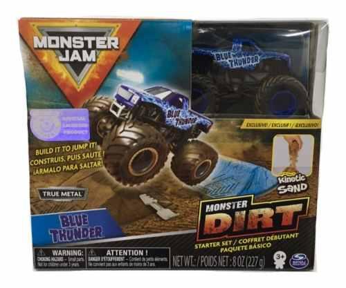 Monster jam carro metal kinetic sand spin master