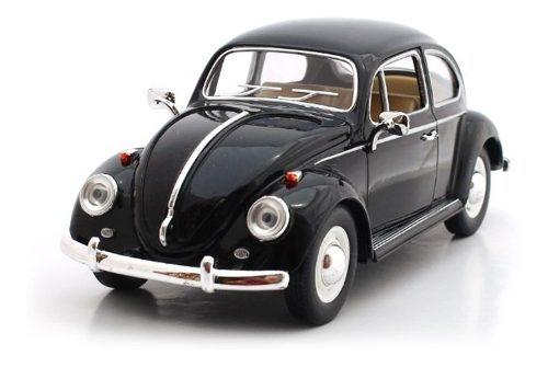 Negro brillante volkswagen beetle 1967 escala 1:24