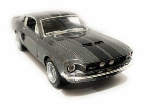 Shelby gt-500 gris 1967 metal 13cm kt5372 kinsmart