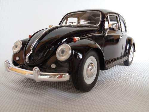 Vw sedan 1967 esc:1/24 kinsmart autos escala negro liso
