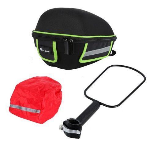 Bolsa Mochila Bicicleta Con Impermeable Y Porta Equipaje