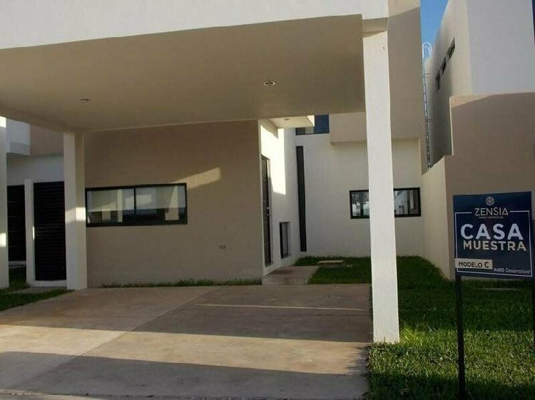 Casa en venta privada zensia conkal (mod.c,) mérida