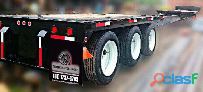Cama baja extendible marca trailers steelhorse