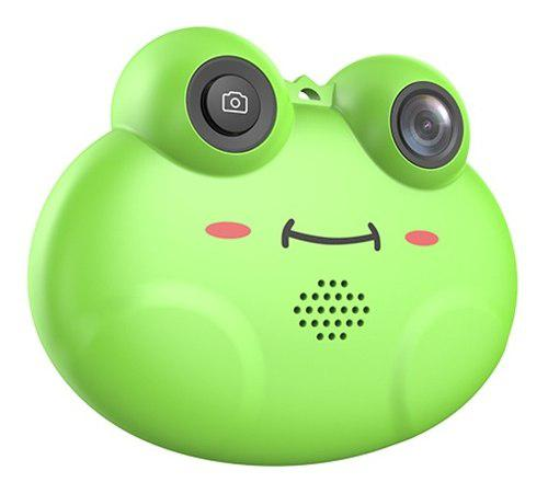 Mini cámara vídeo digital niños con forma rana dibujos an