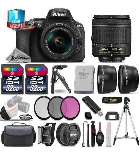 Nikon d5600 dslr camera + 18-55mm vr - 3 lens kit