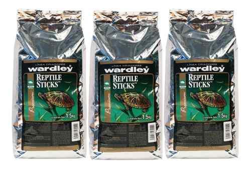 Alimento tortugas reptile sticks caja de 3piezas 4.5 kg