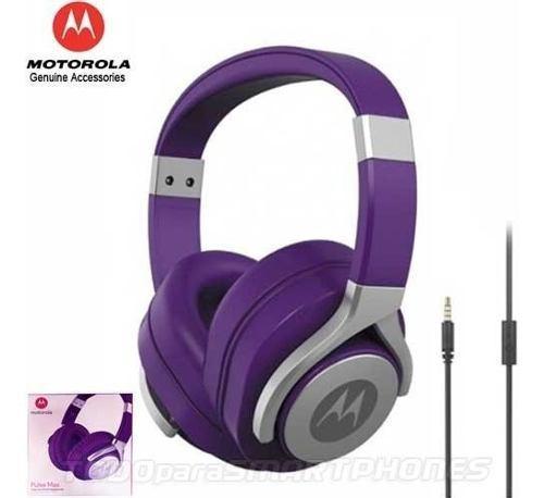Manos libres motorola pulse max violeta 3.5mm audifonos