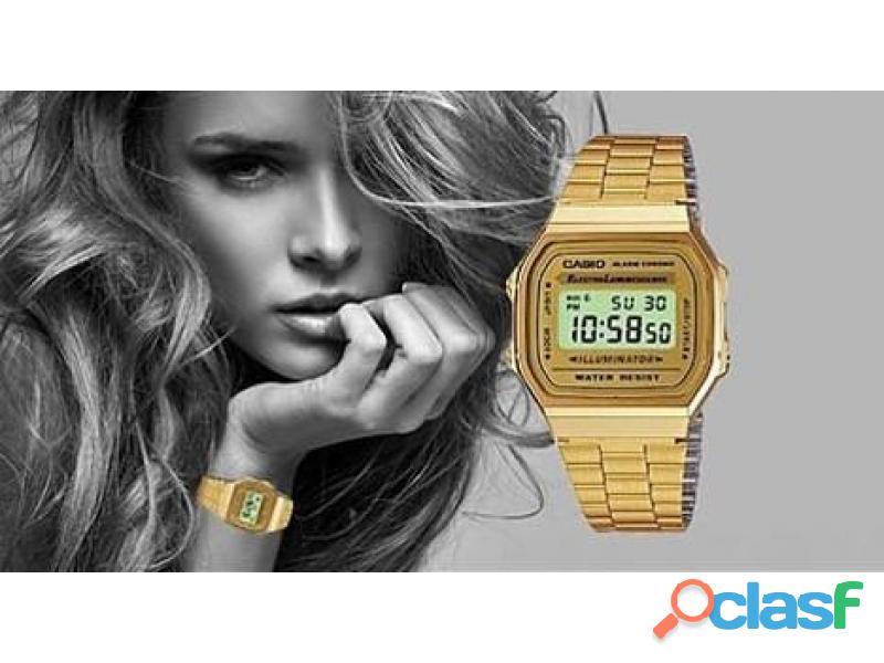 Reloj casio a168 original retro vintage dorado