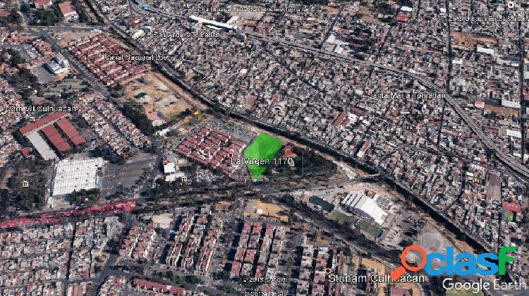 Terreno habitacional en venta en culhuacán ctm canal nacional, coyoacán, distrito federal