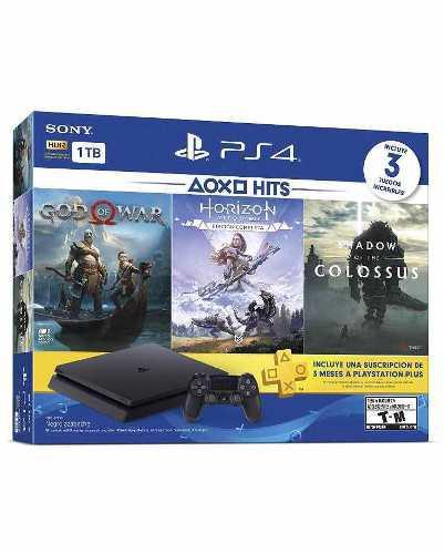 Consola ps4 slim bundle con 3 juegos caja sellada