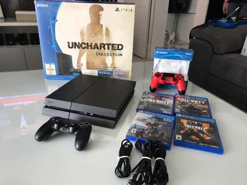 Playstation 4 consola ps4 como nuevo 5 juegos y 2 controles
