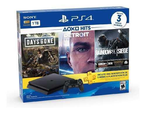 Playstation 4 hits 1tb con 3 juegos. nuevo y sellado