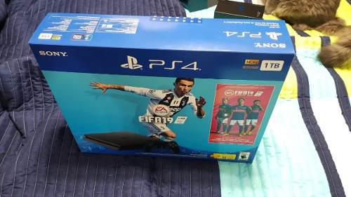 Playstation 4 slim ps4 1tb fifa 19 nuevo sellado