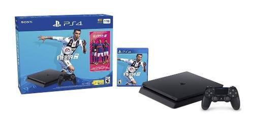 Promo 6,549 consola ps4 playstation 4 slim fifa 2019 1tb