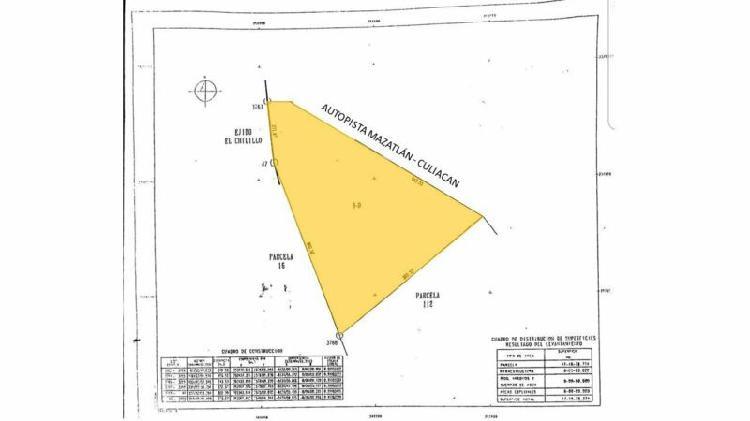 Se vende terreno sobre autopista mazatlanculiacan kl0072