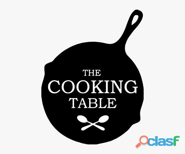 the cooking table