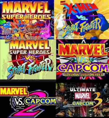 Colección marvel vs capcom street fighter para pc 6 juegos