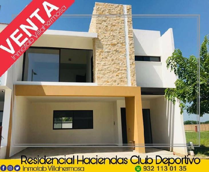Hermosa casa nueva en venta en residencial haciendas club