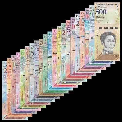 Coleccion 21 billetes de venezuela nuevos maduro chavez