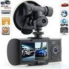 Gps dual lens camera hd car dvr dash cam video recorder g-se