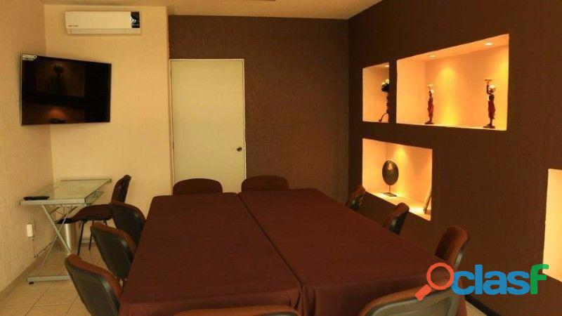 Renta de salas de juntas y capacitación equipadas