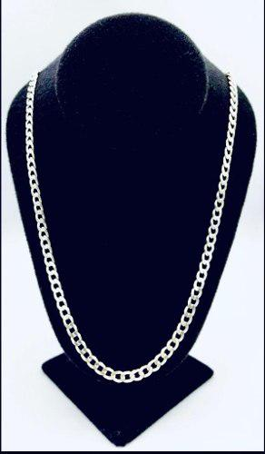 Cadena de hombre cubana 60 cm plata 925 tipo americana 33 gr