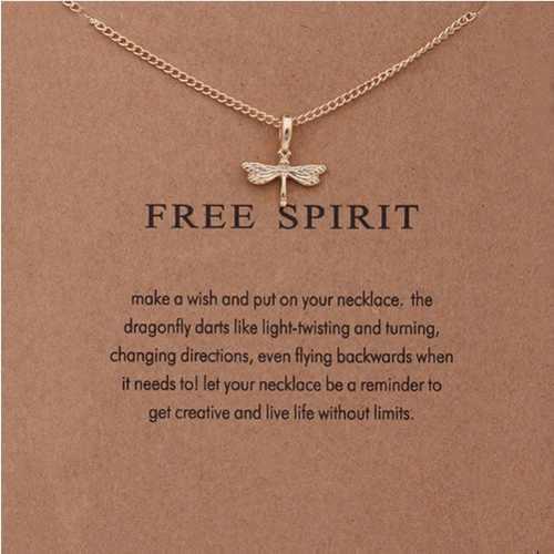 Collar c/dije mensaje espiritu libre mpb-065