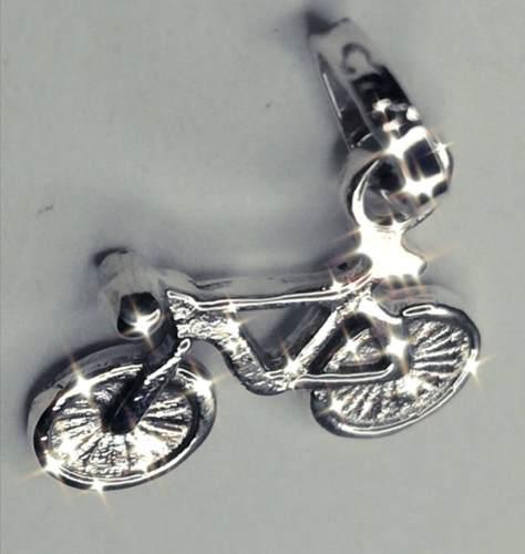 Dije dige bicicleta bici mini en plata fina 925 bike