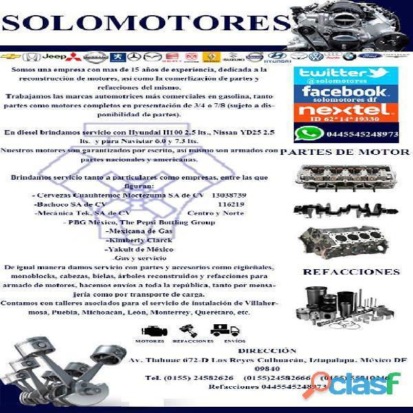 Motores principales marcas a gasolina y diesel ligero