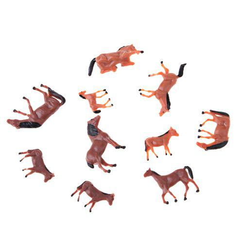 10 Unidades 1/87 Ho Escala Pintado Granja Animales Modelo C