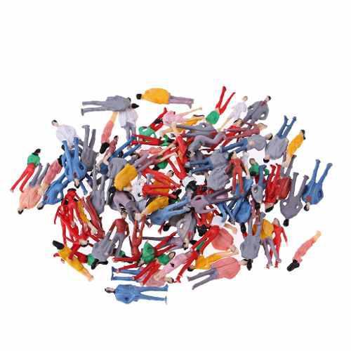 Ho figura de acción pintada de la gente del plástico 1/75