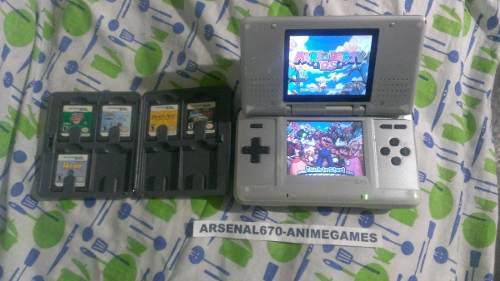 Nintendo ds fat plata + estuche con 6 juegos mario party nds