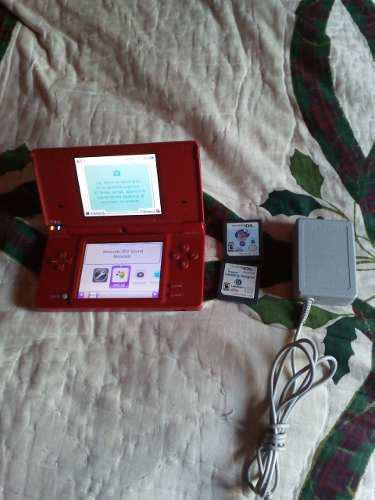 Nintendo dsi rojo + 2 juegos ! envío gratis !