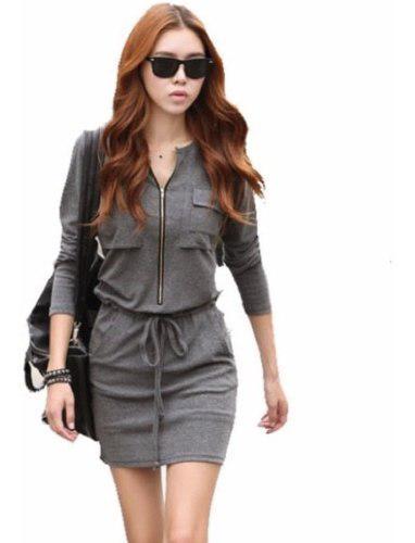 Vestido blusa falda moda japonesa bolsa con cierre 5118