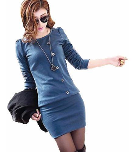 Vestido blusón blusa falda 2 en 1 moda japonesa 5050