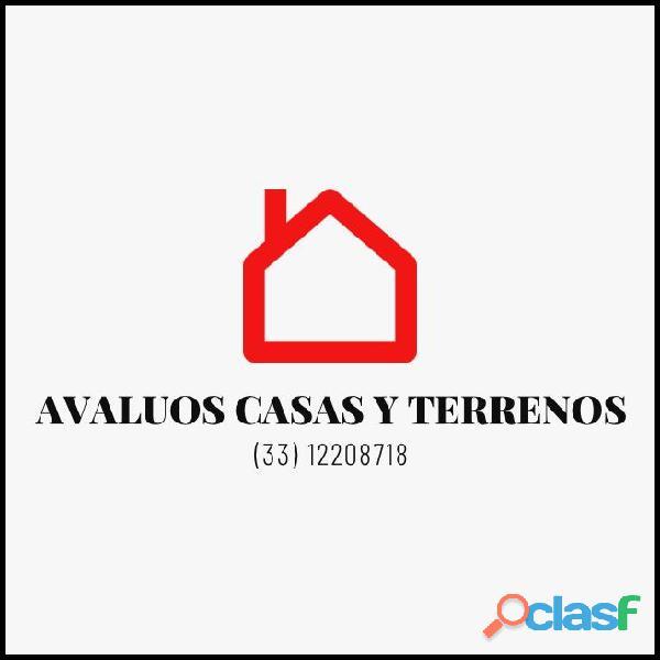 AVALUOS CASAS Y TERRENOS.