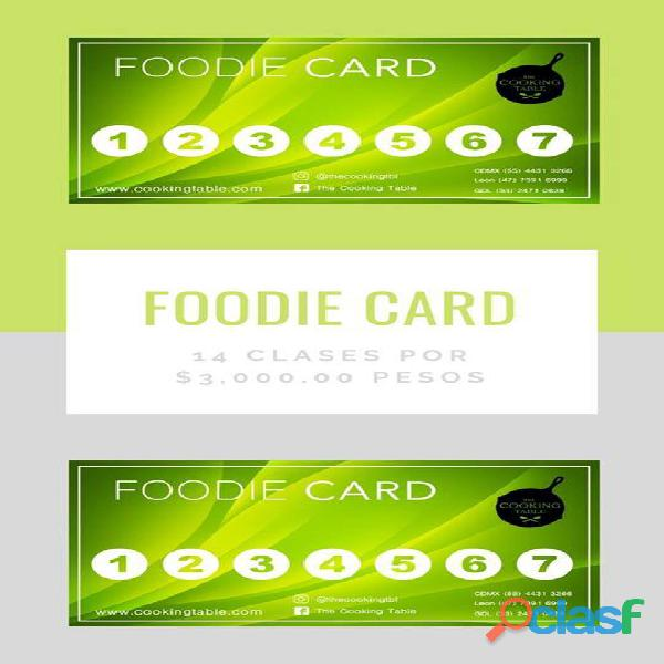 foodie card the cooking table