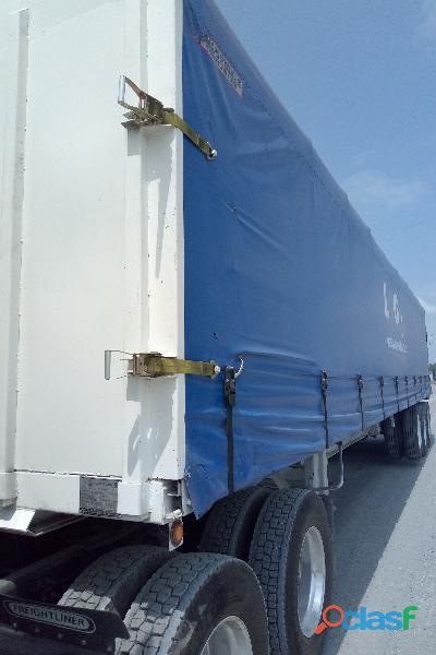 Plataforma encortinada nueva de 40' 3 ejes marca steelhorse