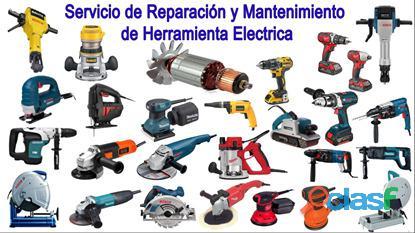 Reparación, mantenimiento de herramienta eléctrica