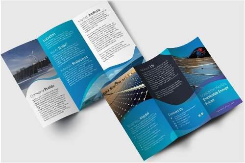 Diseño de folleto plegado profesional tríptico